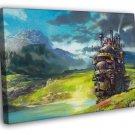 Howl's Moving Castle Painting Anime Manga Art WALL  20x16 FRAMED CANVAS PRINT