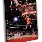 Michael Jordan Free-Throw Line Chicago Bulls WALL FRAMED CANVAS PRINT 20x16 inch