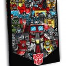 Transformers Generation 1 Autobots Classic Art WALL FRAMED CANVAS PRINT 20x16 inch