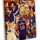 Vince Carter Painting Art Dunk Olympics 2000  20x16 FRAMED CANVAS WALL PRINT