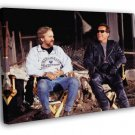 Terminator Arnold Schwarzenegger Behind the Scenes  20x16 FRAMED CANVAS WALL PRINT