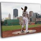 Andrew McCutchen Pittsburgh Pirates Baseball Art  20x16 FRAMED CANVAS WALL PRINT