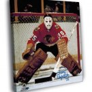 Tony Esposito Chicago Blackhawks Goaltender  20x16 FRAMED CANVAS WALL PRINT