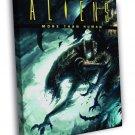 Aliens Xenomorph Creepy Creatures Art  20x16 FRAMED CANVAS WALL PRINT