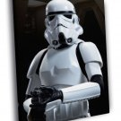Stormtrooper Soldier Weapon Star Wars Art WALL  20x16 FRAMED CANVAS PRINT