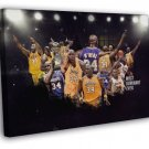 Shaquille O'Neal Awesome Los Angeles Lakers Basketball WALL FRAMED CANVAS PRINT 20x16 inch