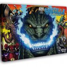 Godzilla Monsters Characters Awesome Movie Art FRAMED CANVAS WALL PRINT 20x16 inch