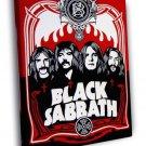 Black Sabbath Painting Art Rock Band Group WALL  20x16 FRAMED CANVAS PRINT