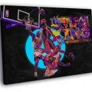 Lebron James King Posterize Dunk Basketball  20x16 FRAMED CANVAS WALL PRINT