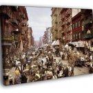 Manhattan Little Italy 1900 New York City FRAMED CANVAS WALL PRINT 20x16 inch
