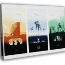 Star Wars Original Trilogy Movie Art AT-AT WALL FRAMED CANVAS PRINT 20x16 inch