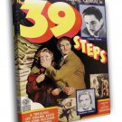 The 39 Steps 1935 Retro Classic Movie FRAMED CANVAS WALL PRINT 20x16 inch