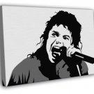 Michael Jackson Music Portrait Amazing BW Art Singing  20x16 FRAMED CANVAS WALL PRINT