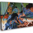 Akira Battle Fight Movie Anime Manga Art FRAMED CANVAS WALL PRINT 20x16 inch