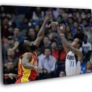 Monta Ellis Jump Shot Dallas Mavericks  20x16 FRAMED CANVAS WALL PRINT