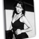 Sophie Marceau Actress Retro Vintage BW WALL  20x16 FRAMED CANVAS PRINT