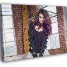 Selena Gomez Beautiful Hair Pop Music Singer WALL FRAMED CANVAS PRINT 20x16 inch