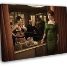 Joan Harris Peggy Olson Elisabeth Moss TV Series  20x16 FRAMED CANVAS WALL PRINT