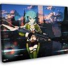 Sword Art Online Hot Girl Weapon Anime Manga FRAMED CANVAS WALL PRINT 20x16 inch