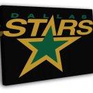 Dallas Stars Logo Hockey Sport Art  20x16 FRAMED CANVAS WALL PRINT