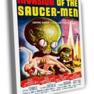Invasion Of The Saucer Men Retro Movie Vintage WALL  20x16 FRAMED CANVAS PRINT