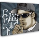 Eazy-E Compton Gangsta Art NWA Rapper Hip-Hop Rap  20x16 FRAMED CANVAS WALL PRINT