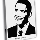 Barack Obama Painting Art BW WALL FRAMED CANVAS PRINT 20x16 inch