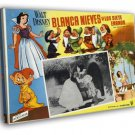 Snow White And The Seven Dwarfs 1937 Old Movie  20x16 FRAMED CANVAS WALL PRINT