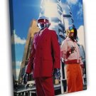 Daft Punk Electronic Duo Music  20x16 FRAMED CANVAS WALL PRINT