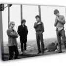 U2 Rock Band Music Vintage BW WALL FRAMED CANVAS PRINT 20x16 inch
