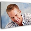 Paul Walker Smile Portrait Actor WALL  20x16 FRAMED CANVAS PRINT