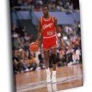 Michael Jordan 84-85 Chicago Bulls 1985 Sport WALL  20x16 FRAMED CANVAS PRINT