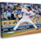 Clayton Kershaw Los Angeles Dodgers Baseball  20x16 FRAMED CANVAS WALL PRINT