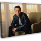 Matthew McConaughey Actor Awesome Handsome WALL FRAMED CANVAS PRINT 20x16 inch