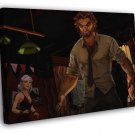 The Wolf Among Us Bigby Video Game Art WALL  20x16 FRAMED CANVAS PRINT
