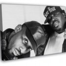 8Ball and MJG Awesome BW Retro Rap Hip Hop Duo FRAMED CANVAS WALL PRINT 20x16 inch
