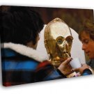 Star Wars C-3PO Anthony Daniels Behind Scenes Rare FRAMED CANVAS WALL PRINT 20x16 inch