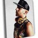 Emilio Rojas Rapper Hip-Hop Rap Music FRAMED CANVAS WALL PRINT 20x16 inch
