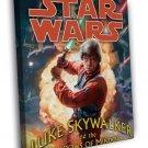 Luke Skywalker Jedi Lightsaber Star Wars Art WALL FRAMED CANVAS PRINT 20x16 inch