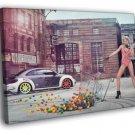 Leonie Hagmeyer-Reyinger Volkswagen Beetle Hot FRAMED CANVAS WALL PRINT 20x16 inch