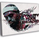 LeBron James The King Miami Heat Art Painting WALL  20x16 FRAMED CANVAS PRINT