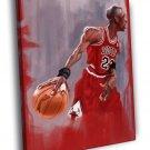 Michael Jordan Cool Sketch Painting Chicago  20x16 FRAMED CANVAS WALL PRINT