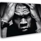 50 Cent Amazing Portrait Hip Hop Music Singer  20x16 FRAMED CANVAS WALL PRINT