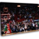 Jeff Green Game-Winner Buzzer Beater Miami  20x16 FRAMED CANVAS WALL PRINT