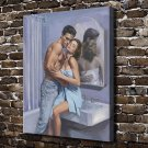 A man and a woman Paintings Decor  20x16 FRAMED CANVAS PRINT