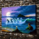 They only come out at night Paintings Decor  20x16 FRAMED CANVAS PRINT