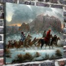 Apaches winter Decor  20x16 FRAMED CANVAS PRINT