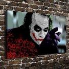 DC Batman Joker Paintings Decor  20x16 FRAMED CANVAS PRINT