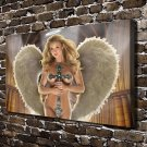 Sexy Woman with Wing  20x16 FRAMED CANVAS PRINT
