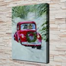 The Red Car  20x16 FRAMED CANVAS PRINT